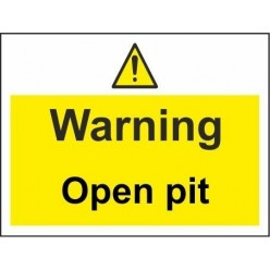 construction traffic 600x450mm stanchion sign