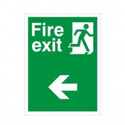 Non Slip Fire Exit Left Floor Sign