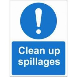 Clean Up Spillages Mandatory Sign