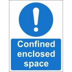 Confined Enclosed Space Mandatory Sign