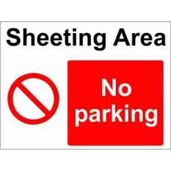 Sheeting Area Parking Sign