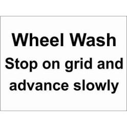 Wheel Wash Parking Sign
