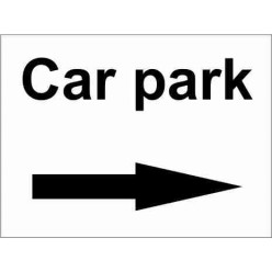 Car Park Right Parking Sign
