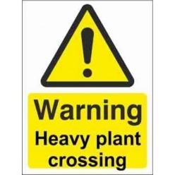 Heavy Plant Crossing Warning Sign