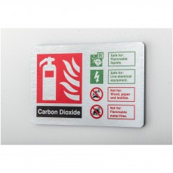 Prestige Carbon Doxide Sign 150 x 100mm