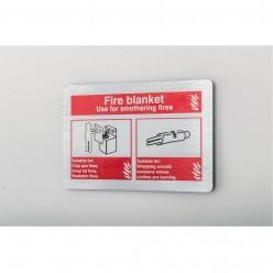 Prestige Fire Blanket Sign 150 x 100mm