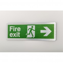 Prestige Fire Exit Arrow Right Sign
