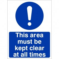 This Area Must Be Kept...