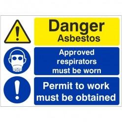 Danger Asbestos Approved...