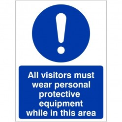 All Visitors Must Wear...