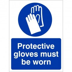 Protective Gloves Must Be...