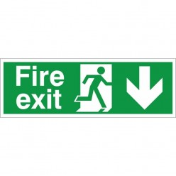 Fire Exit Down Sign
