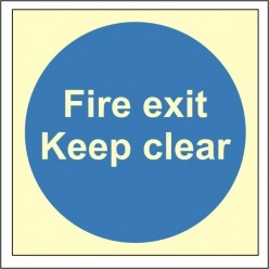 Fire Exit Keep Clear...
