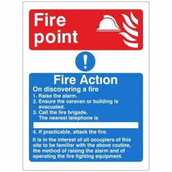 Fire Point Fire Action Sign...