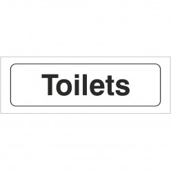 Toilets Sign 300 x 100mm