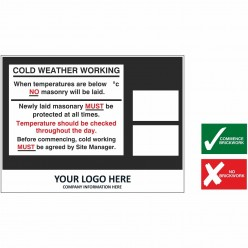 Safety Signs At Work Sign  - Aluminium Composite Board- 1200mm x 800mm
