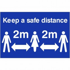 Keep A Safe Distance Sign...