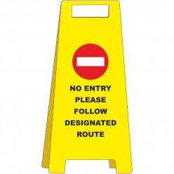 No Entry Please Follow...