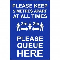 Please Keep 2 Metres Apart...