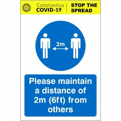 Please Maintain A Distance...