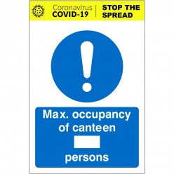 Max Occupancy Of Canteen...