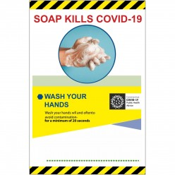 Soap Kills Covid 19 Sign